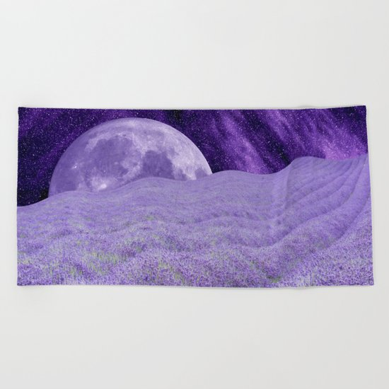 LAVENDER MOON Beach Towel