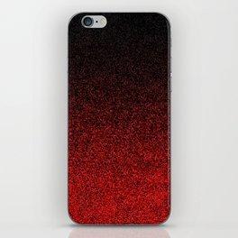 Red & Black Glitter Gradient iPhone Skin