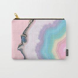 Rainbow Agate Slice Carry-All Pouch