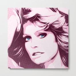 Farrah Fawcett - Classic - Pop Art Metal Print