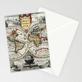 World Map 1758 Stationery Cards
