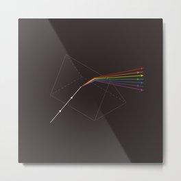 Prisms & Lenses - Colours Metal Print