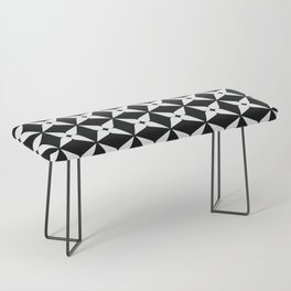Geometric Pattern 247 (white crosses) Bench
