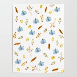 My Blue Pumpkin Poster