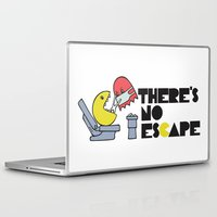 dentist Laptop & iPad Skins featuring there's no escape by Vickn