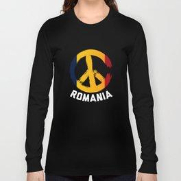 Romania Peace Sign Tshirt Long Sleeve T-shirt