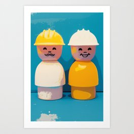 Construction Workers Art Print