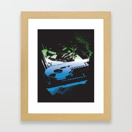 Turntable Apart Framed Art Print