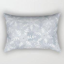 Snowflake pattern gray Rectangular Pillow