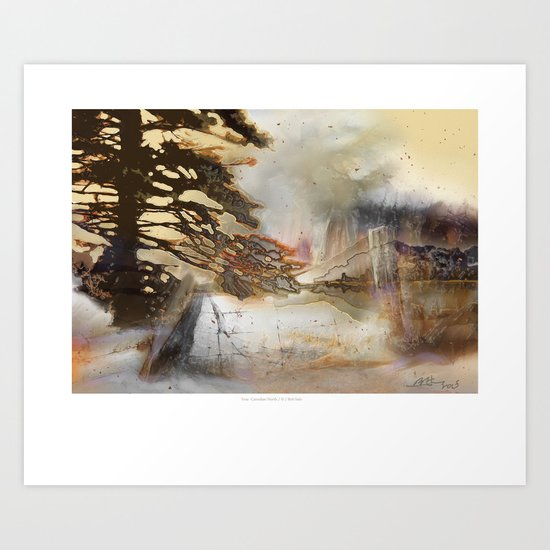 True Canadian North Art Print