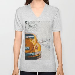 Yellow Taxi (Color) Unisex V-Neck