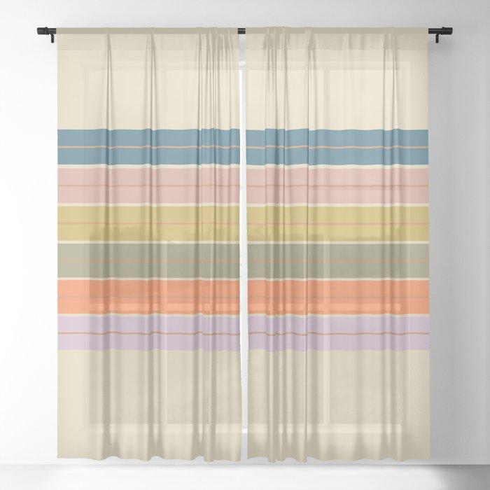 Pastel Stripes Sheer Curtain