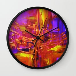 Purple Revolution Wall Clock