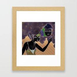 crazy witch Framed Art Print