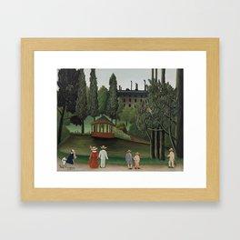 View of Montsouris Park, the Kiosk (Vue du Parc Montsouris, Le Kiosque) (ca. 1908–1910) ) by Henri R Framed Art Print