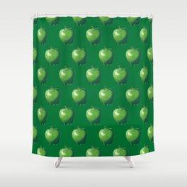Green Apple_B Shower Curtain