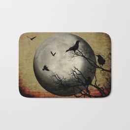 Rustic Black Bird Raven Crow Tree Dark Side of the Moon Gothic Art A169 Bath Mat