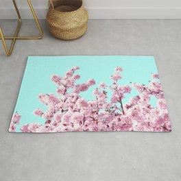 Pink Blossom Foliage  Rug