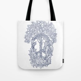 The Phoenix Bird and the Tree of Life Tote Bag