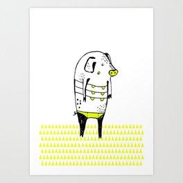 Summer Pig Art Print