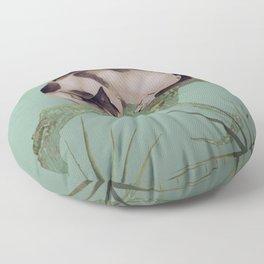 Cat In The Pines Floor Pillow