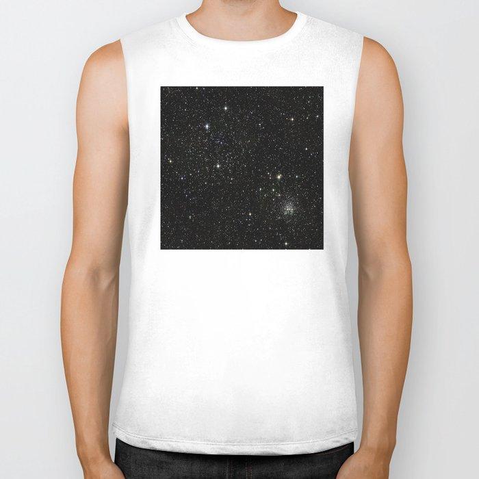 Space - Stars - Starry Night - Black - Universe - Deep Space Biker Tank