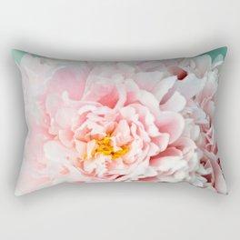 Peony Flower Photography, Pink Peony Floral Art Print Nursery Decor A happy life - Peonies 2 Rectangular Pillow