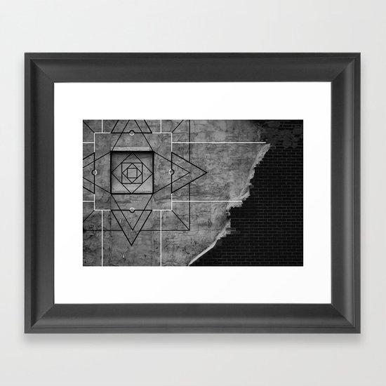 Emergence 2 B&W  Framed Art Print