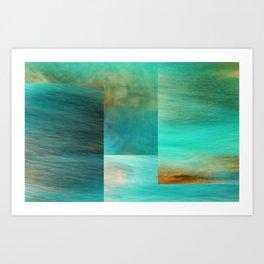 Fantasy Oceans Collage Art Print