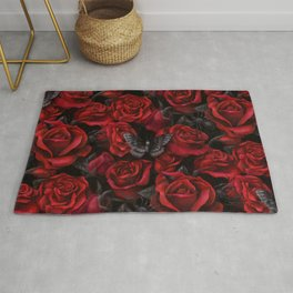 Bugs and Roses Rug