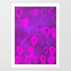 loops radiant orchid Art Print