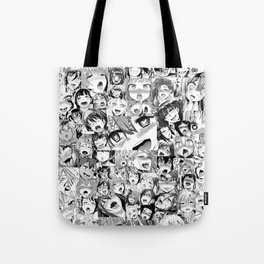 Ahegao Hentai Girls Anime Collage Tote Bag