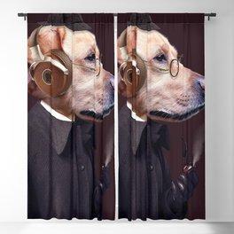 Dog Sherlock Holmes Blackout Curtain