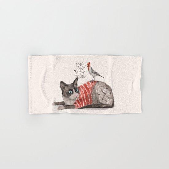 Snowshoes & Littlebird Hand & Bath Towel