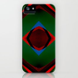 Multi layer abstract art iPhone Case