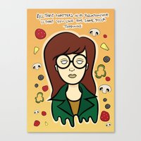 daria Canvas Prints featuring Daria by Renae Richani