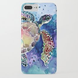 Sea Turtle underwater, beach deep blue barine blue turtle beach style design iPhone Case