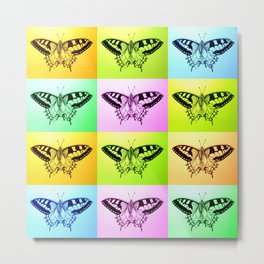 rainbow butterfly prints Metal Print