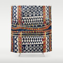Qashqa'i Khorjin  Antique Fars Persian Tribal Bag Shower Curtain
