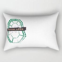 Ninja Lizz Logo Rectangular Pillow