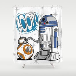 Master Of BOOP (BB8 Version) Shower Curtain