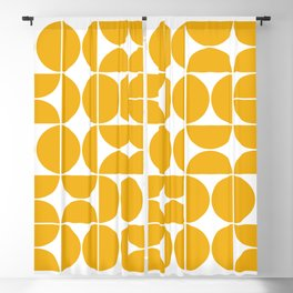 Mid Century Modern Geometric 04 Yellow Blackout Curtain