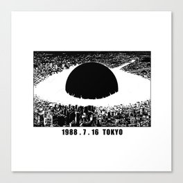 1988 7 16 Tokio v2 Canvas Print