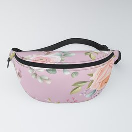 Pink Roses Pattern Fanny Pack