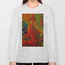 Dark Psychedelic marble Long Sleeve T-shirt