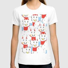 Kitsune Crowd - Japanese Messenger Fox T-shirt