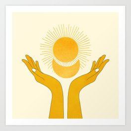 Holding the Light Art Print