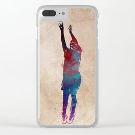 basketball player #basketball #sport Clear iPhone Case
