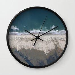 Aerial Beach Photograph: Masonboro Island | Wrightsville Beach NC Wall Clock