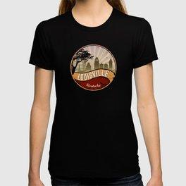 Louisville City Skyline Design Kentucky Retro Vintage T-shirt